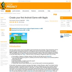 Create your first Android Game with libgdx