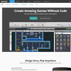 Create iOS and Flash Games with Stencyl