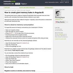 How to create giant memory leaks in AngularJS - makandra dev