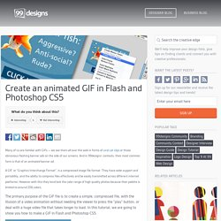 Create an animated GIF in Flash and Photoshop CS5