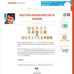 Create HTML5 Animation Sprite Sheet in Photoshop { William Malone }