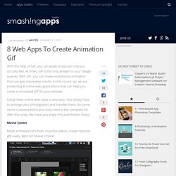 8 Web Apps To Create Animation Gif