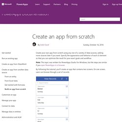 Create an app from scratch