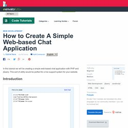 How to Create A Simple Web-based Chat Application