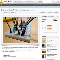 How to create an Arduino remote shutter