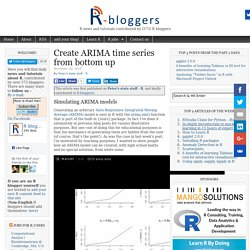 Create ARIMA time series from bottom up