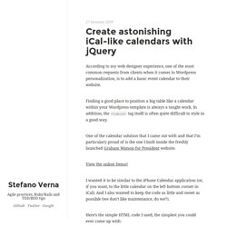 Create astonishing iCal-like calendars with jQuery