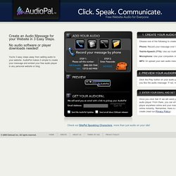 Create Audio for your site with a Free mp3 player