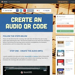 Create an Audio QR Code