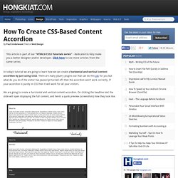 How To Create CSS-Based Content Accordion