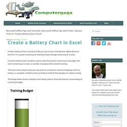 Create a Battery Chart in Excel - Computergaga Blog
