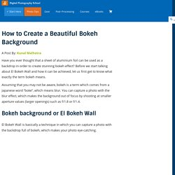How to Create a Beautiful Bokeh Background