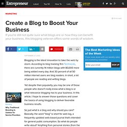 Create a Blog to Boost Your Business