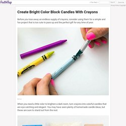 Create Bright Color Block Candles With Crayons