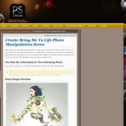 Create Bring Me To Life Photo Manipulation Scene