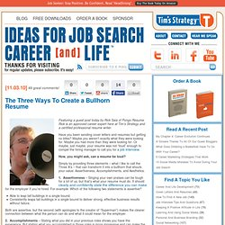 Smart Advice For Cover Letters and Resumes | Tim's Strategy