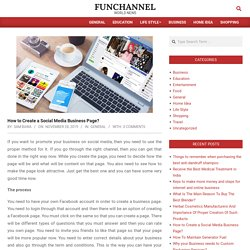 How to Create a Social Media Business Page? – Funchannel