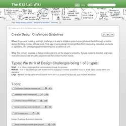 Create Design Challenges Guidelines