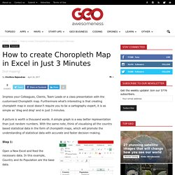 How to create Choropleth Map in Excel in Just 3 Minutes