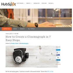 How to Create a Cinemagraph in 7 Easy Steps