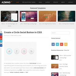 Create a Circle Social Button in CSS3