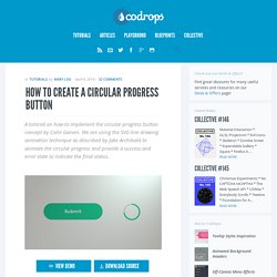 How to Create a Circular Progress Button