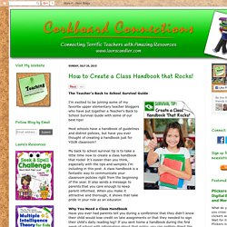 Corkboard Connections: How to Create a Class Handbook that Rocks!