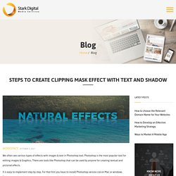 Steps to create clipping mask effect with text and shadow