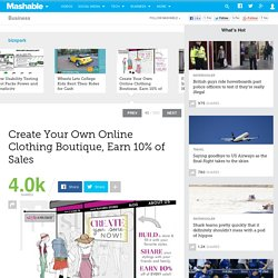 Create Your Own Online Clothing Boutique, Earn 10% of Sales