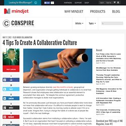 4 Tips To Create A Collaborative Culture