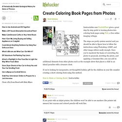 Create Coloring Book Pages from Photos
