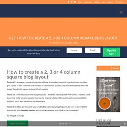 How to create a 2, 3 or 4 column square blog layout in Divi