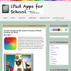 Create Comics in the Latest Version of Book Creator for iPad