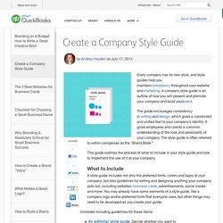 Create a Company Style Guide