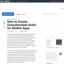 How to Create Concatenated Audio for Mobile Apps