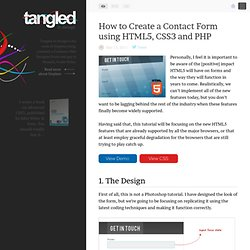 How to Create a Contact Form using HTML5, CSS3 and PHP
