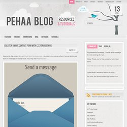 create a unique contact form with css3 transitions | PeHaa Blog - pehaa.com (HTTP)