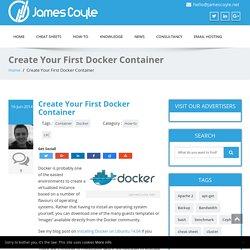 Create Your First Docker Container – JamesCoyle.net