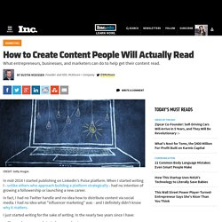 How to Create Content People Will Actually Read