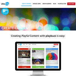 Create content with playbuzz