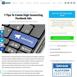 7 Tips To Create High Converting Facebook Ads