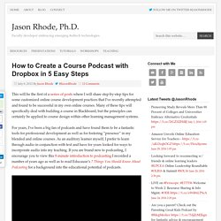 How to Create a Course Podcast with Dropbox