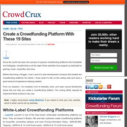 Create a Crowdfunding Platform With These 19 Sites