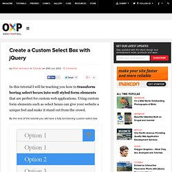 Create a Custom Select Box with jQuery