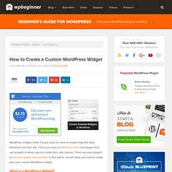 How to Create a Custom WordPress Widget