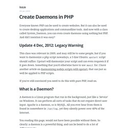 Create daemons in PHP