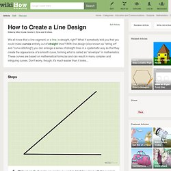 How to Create a Line Design: 9 steps (with pictures)