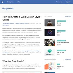 How To Create a Web Design Style Guide - Designmodo