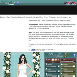 Build, Make, Create, Design Your Own Wedding Dress Online