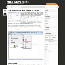 How To Create a New Device in EAGLE - Mike Silverman